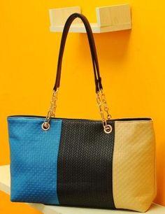 9.97 Vogue Lady Stylish 2 Colors Shoulder Bag Tote Backpack, Tote Purse,  Block Design 5683fe4b64