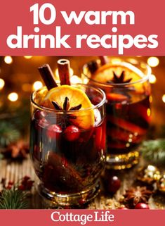 Tired of hot chocolate? Try one of these warm drinks for your Christmas celebrations. These easy recipes are perfect for the holidays. #warmdrink #hotchocolate #hottoddy #chailatte #easyrecipe #hotdrink #CottageLife Christmas Morning Wife Saver, Christmas Morning Breakfast, Best Gin Cocktails, Gin Cocktail Recipes, Christmas Punch, Christmas Drinks, Christmas Breakfast Casserole, Easy Punch Recipes, Lime Soda