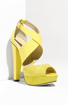 very yellow sandals