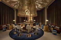 Banquettes, Place Vendôme, The Ritz Paris, Le Palace, Brass Lantern, Extended Stay, Bar, Chandelier, Ceiling Lights