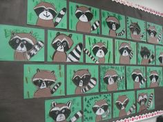 value, animals, ARTventurous: Raccoons. Whenever I see raccoons, I think of the book The Kissing Hand - which could easily be added! Brown paper and black and white oil pastels. Kindergarten Art Projects, School Art Projects, Raccoon Art, Racoon, The Kissing Hand, First Grade Art, Animal Art Projects, Ecole Art, Art Lessons Elementary