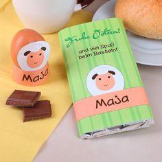 Schokolade mit niedlichem Schäfchen zum Basteln