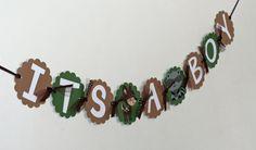 DIY ----- Woodland Animal Its A Boy Banner, Forest Friends Baby Shower, Woodland Animal Baby Shower, Woodland Birthday