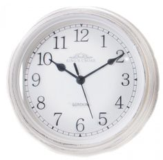Shabby Chic Vintage Small Kitchen King's Cross London Wall Hanging Clock ~ White Delightful small King's Cross wall clock Crafted with a distressed casing to give an aged effect Easy to read