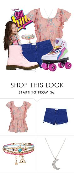 """Soy Luna Inspired Look"" by candysweetieglam ❤ liked on Polyvore featuring Forever 21, Mus, Current/Elliott, Accessorize, Finn and Dr. Martens"