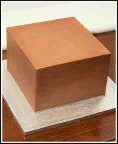 My first square cake by tortacouturecakes, via Flickr