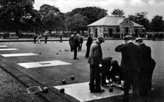 Old photograph of the Lawn Bowling Green in Kirkcaldy, Fife, Scotland