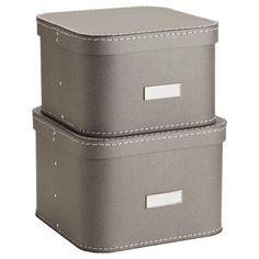 Bigso™ Oskar Boxes Grey Set of 2