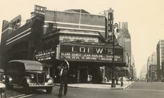 Loew's Sheridan Theatre, NE corner of Greenwich Avenue and 7th Avenue, looking NW from SE side of 12th St., August 25, 1937. Photograph by N-YHS Staff.