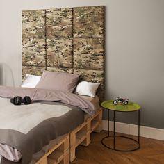 madeforbed.com, modular headboard, moro, cordura, military, design, boy's room