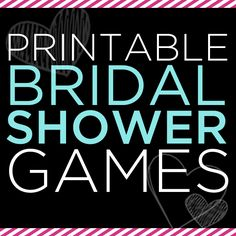 Free Printable Shower Games!