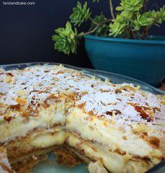 Greek Sweets, Greek Desserts, Summer Desserts, Greek Recipes, Kai, Tandoori Masala, Custard Cake, Sweet Pastries, Pavlova