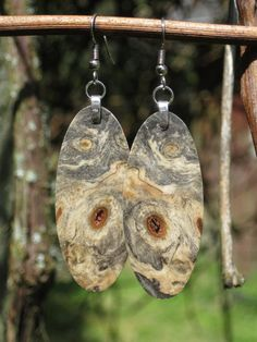 Your place to buy and sell all things handmade Wood Earrings, Etsy Earrings, Buckeye Burl, Three Dimensional, Wind Chimes, Scrap, Resin, Pendants, Christmas Ornaments