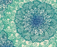 Emerald Doodle Art Print by Micklyn | Society6