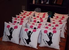 Personalized pillow. Dance team gift idea.                                                                                                                                                      More