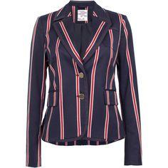 Bethia Striped Blazer   Moda Operandi (1.050 RON) ❤ liked on Polyvore featuring outerwear, jackets and blazers