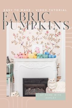 DIY fabric pumpkins- a free pattern for a tutorial with a video and step by step instructions. This is cute fall season decor and is an easy to make autumn craft! Diy House Projects, Easy Projects, Diy Home Accessories, Diy Home Repair, Fabric Pumpkins, Cozy Room, Do It Yourself Home, Wall Treatments, Decorating On A Budget