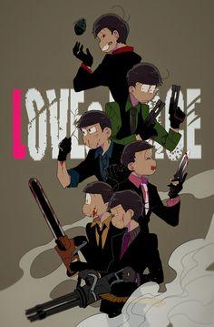 Osomatsu brothers as Mafia <3
