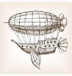 Steampunk Mechanical Flying Airship Sketch Vector Stock Vector - Illustration of vintage, drawing: 74759827 Steampunk Ship, Steampunk Drawing, Arte Steampunk, Steampunk Design, Steampunk Costume, Steampunk Makeup, Steampunk Men, Steampunk Crafts, Steampunk Gadgets