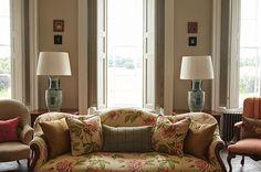 Giselle fabric by Colefax and Fowler @goodnestone_park. Photography by Katya de Grunvald @k_de_g. Interiors by Francesca Rowan-Plowden and Marcus Crane @francescarowanplowden @mccullyandcrane #colefaxandfowler #fabrics #giselle #red #green #sofa #print #floral #peonies #interiors #interiordesign #decoration #homedecor #peony