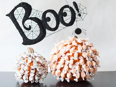 Pin your pumpkin with candy. >> http://www.diynetwork.com/how-to/make-and-decorate/decorating/2015-pictures/unique-pumpkin-decorating-ideas-for-2015-