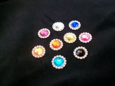 Assorted Silver Metal Round Faceted Rhinestone by TheEiffelTeaRoom, $4.99