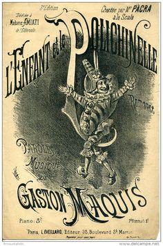 PARTITION CAF CONC ENFANT ET LE POLICHINELLE GASTON MAQUIS 1882 AMIATI GABRIELLE CHALON PACRA ILL DENIS - Music & Instruments