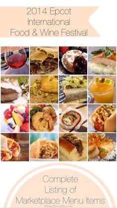 2014 Epcot International Food & Wine Festival - Complete Marketplace Menu - DisneyEveryDay.com