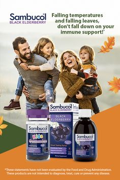 Elderberries are bursting with antioxidants to help you and your family stay healthy and build strong immune systems.* Stay on top of your immune health this fall with Sambucol!n#elderberry #blackelderberry #immunesystem #immunehealth #fall #autumn #backtoschool #immuneboostingnn* These statements have not been evaluated by the Food and Drug Administration. This product is not intended to diagnose, treat, cure, or prevent any disease. Elderberry Benefits, Elderberry Gummies, Elderberry Syrup, Health Foods, Health Tips, Health And Wellness, Health And Beauty, Health Fitness, Elderberry For Babies