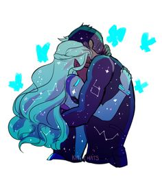 """""""It's okay, it's okay, it's okay, it's okay, it's okay."""" by kit-chats -- Allura and Shiro"""