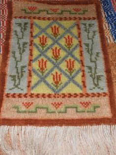 Ryijy Rya Rug, Wool Rug, Hand Knotted Rugs, Bohemian Rug, Weaving, Tapestry, Design, Home Decor, Eggs