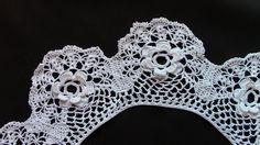 An Irish Roses Collar in Crochet Lace This is a very beautiful collar. I would say intermediate. I'm working on one right now and it does take time and patience, but I'm enjoying it! :) For crochet lovers only!