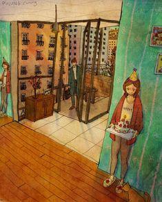 Korean Artist Illustrates the Beautiful Simplicity of Love