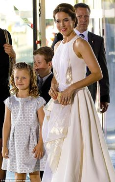 Mum and daughter: Although only seven years old, young Isabella is accustomed to attending official function with her royal mum