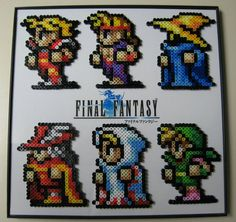 Final Fantasy perler beads by BeadtasticDesigns300