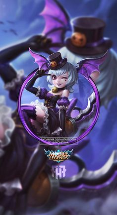 Wallpaper Phone Nana Graveyard Party by FachriFHR on DeviantArt Moba Legends, Mobile Legend Wallpaper, The Legend Of Heroes, Cool Anime Girl, Feature Wallpaper, Poker Online, Cute Designs, Female Characters, League Of Legends