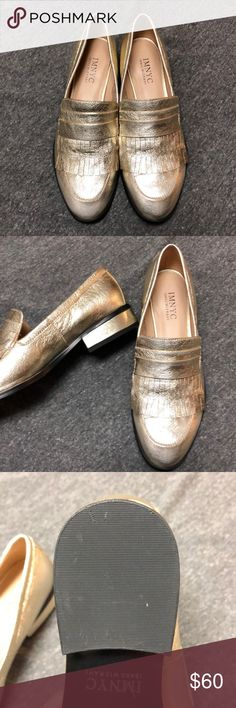 Isaac Mizrahi Veronica gold leather loafers EUC Worn once!! Excellent condition woman's size 6.5 Isaac Mizrahi Shoes Flats & Loafers