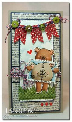 BEAR LOVE {tcptues155} by leigh obrien - Cards and Paper Crafts at Splitcoaststampers
