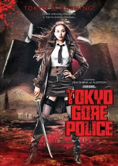 """Tokyo Gore Police.  Not really family fare, TGP is fun, massively gory, and well-done.  Following the exploits of a female cop who goes up against """"Engineers"""", criminals whose wounds turn to bizarre weapons, it's a darkly humorous splatterfest that'll satisfy any gorehound's need for blood and guts (and pretty ladies...the main character is a cutie-pie)."""