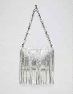 Shop ASOS DESIGN chainmail fringe shoulder bag with detachable strap. With a variety of delivery, payment and return options available, shopping with ASOS is easy and secure. Shop with ASOS today. Asos, Luxury Dress, Chain Mail, Outfit Combinations, Just Giving, Luxury Handbags, Beautiful Bags, Fashion Online, 90s Fashion
