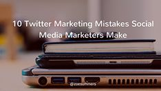 10 Twitter Marketing Mistakes Social Media Marketers Make Marketing Tools, Online Marketing, Social Media Marketing, Twitter For Business, Twitter Tips, Pinterest Marketing, Mistakes, Improve Yourself, How To Make