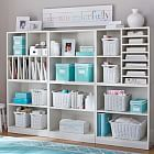 love the turquoise and white. maybe throw a little black in there. scrapbook or craft room organization. Stack Me Up Magazine Super Set Craft Room Storage, Craft Organization, Craft Rooms, Organizing, Book Storage, Cube Storage, Storage Baskets, Storage Ideas, Paper Storage