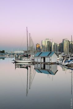 Coal Harbour, Vancouver.  Usually this was my starting point to walking along the Seawall in Stanley Park.  Each time the shades and hues would be different.