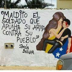Las paredes en #Calles de #Venezuela se llenan de #Graffitis de #Protesta gráfica de la #Resistencia contra el Régimen Oprobioso en el #Poder /// Napoleón Bravo (@napoleonbravo)   Twitter