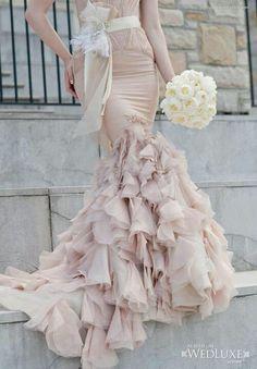 Vera Wang ruffled gown