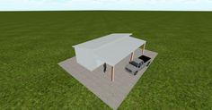 3D #architecture via @themuellerinc http://ift.tt/1Q1FADM #barn #workshop #greenhouse #garage #DIY
