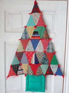 Handmade Christmas Tree Quilt for a Country Christmas