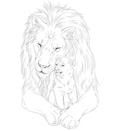 Working on a new digital artwork!! 🦁 Can't wait to finish this one! How would you caption this? 🤔😊 #art #arte #lineart #lines #lion #lions #father #son #sun #moon #love #artist #artistic #fantasy #artwork #draw #drawing #digitalart