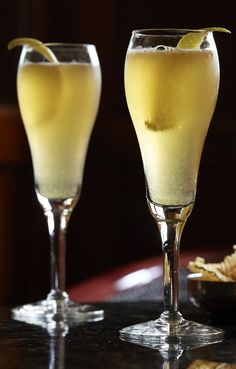 Arnaud's French 75. Classic cocktail recipes like this are easy to fall for. Champagne makes it light, cognac (not gin) makes it strong, simple syrup makes it sweet and lemon makes it tart! So balanced and so delicious. An easy, fresh cocktail to make for a party like new year's eve!
