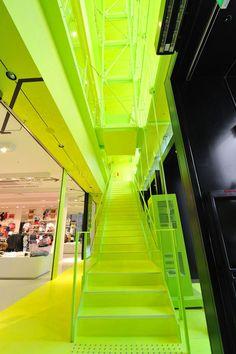 Fluorescent Yellow Neon Arhitecture